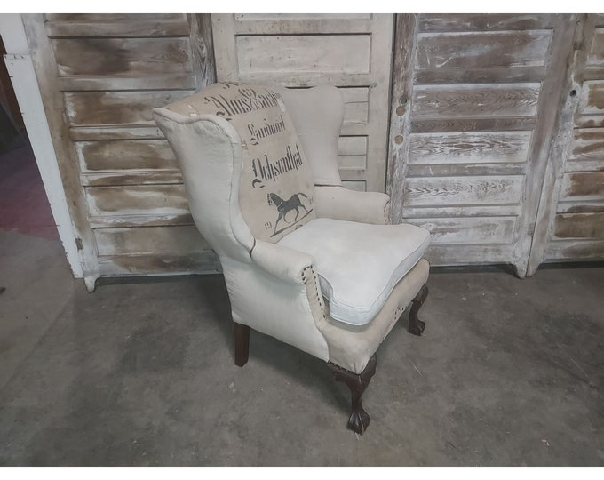 1860'S WING BACK CHAIR # 186253