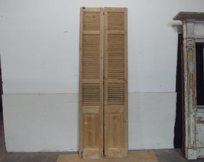 Early 1800's Stripped Pine Shutters # 182866