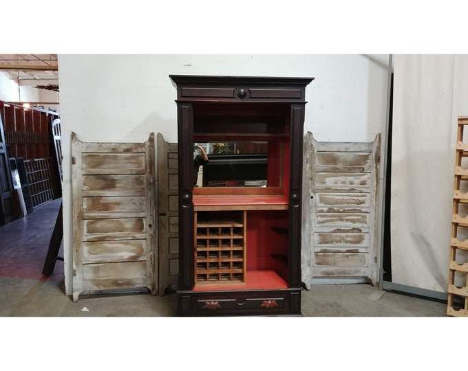1850'S Armoire Now A Fabulous Bar # 185607