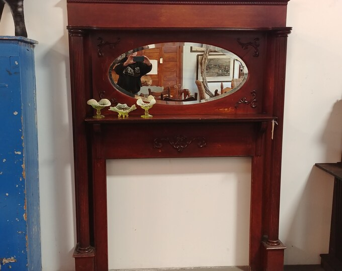 OAK MANTEL # 17057