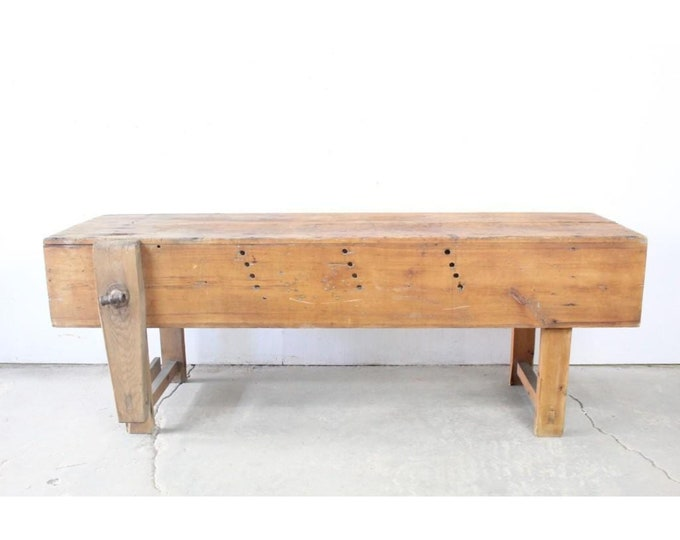Antique Primitive Carpenters Work Table # 185534