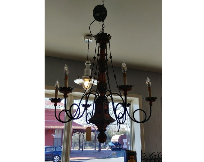STUNNING PAINTED CHANDELIER # 17322