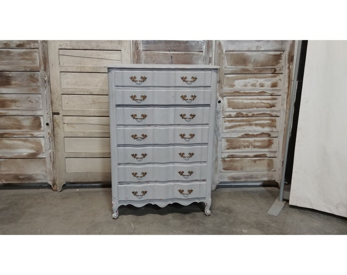 1940'S Painted Tall Chest Of Drawers # 185640