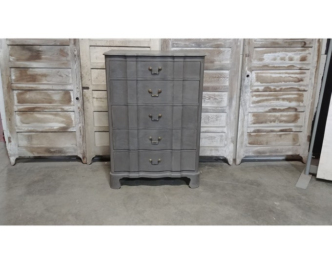 1940'S Painted Five Drawer Chest Of Drawers # 185639
