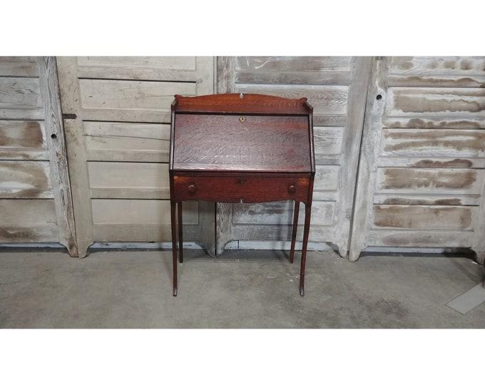 1900'S Oak Drop Front Desk #185994