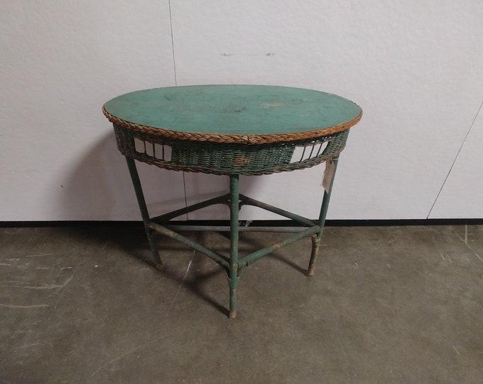 OVAL WICKER TABLE # 181551