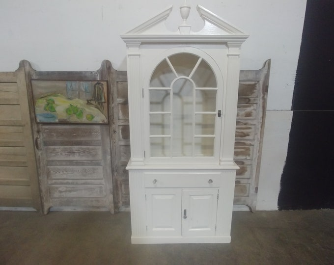 1900's Painted Glass Door Cabinet # 183479