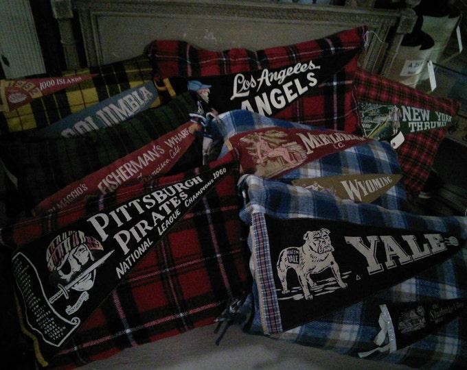 Vintage Handmade Pennant Pillows