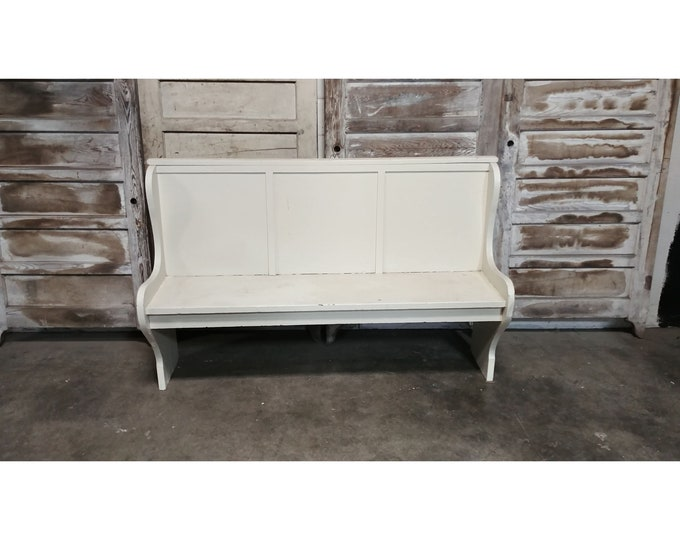 1920'S HIGH BACK BENCH # 185617