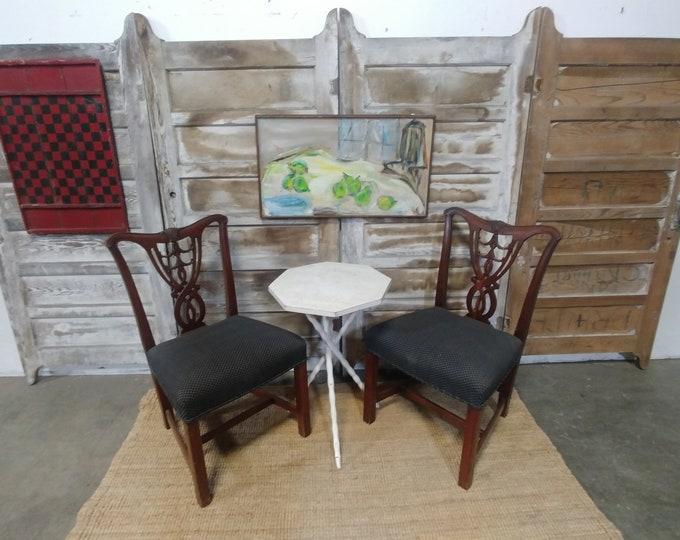 Set Of 4 Mahogany Shield Back Chairs # 180936