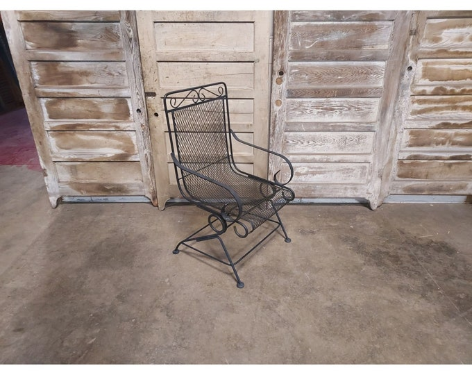 1950'S Iron And Mesh Spring Back Chair # 186705