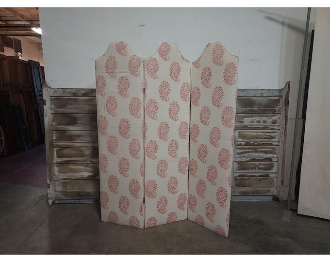 1890'S Three Panel Fabric Screen # 186711