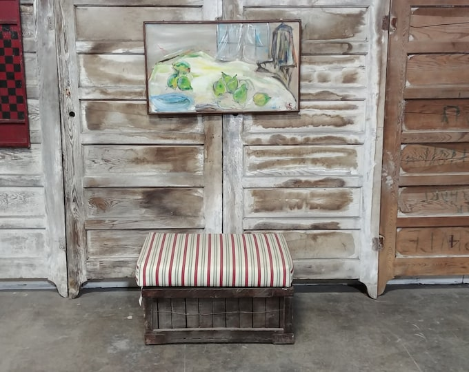 OLD CRATE BENCH # 17673