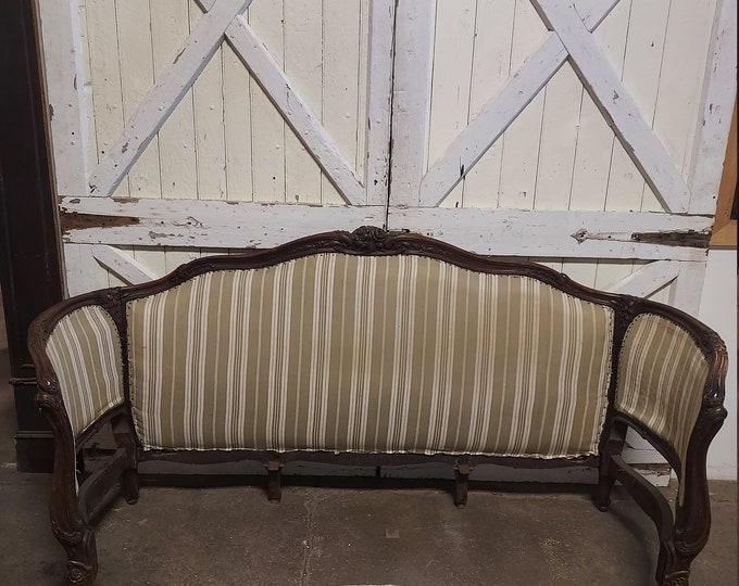 1860's Queen Sized Upholstered Bed