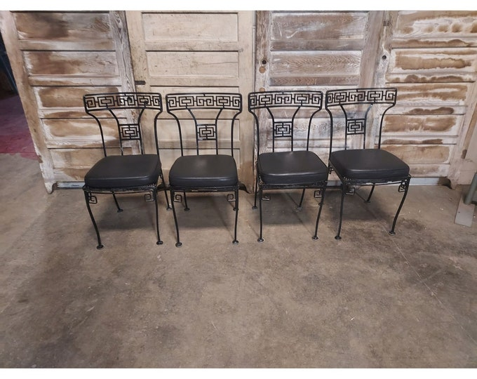 Set Of Four 1940's Iron And Mesh Chairs # 186706