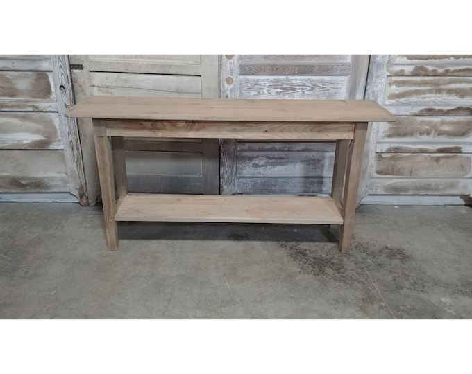 Pine Console With Lower Self # 186154