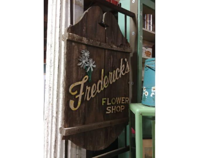 Vintage Fredericks Flower Sign # 181406