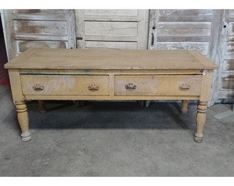 1840'S TWO DRAWER WORKTABLE # 185469
