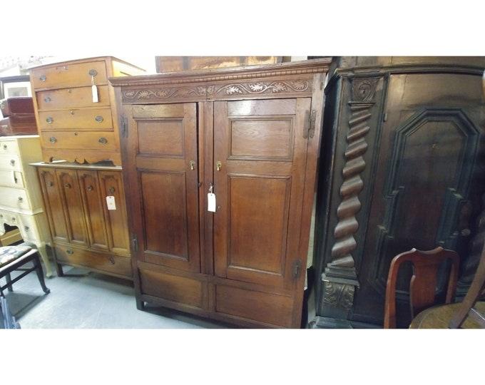 EARLY 2 DOOR ARMOIRE # 180666