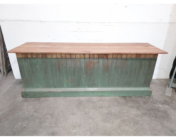1880'S General Store Counter Fabulous Color Lots of Storage - 186291