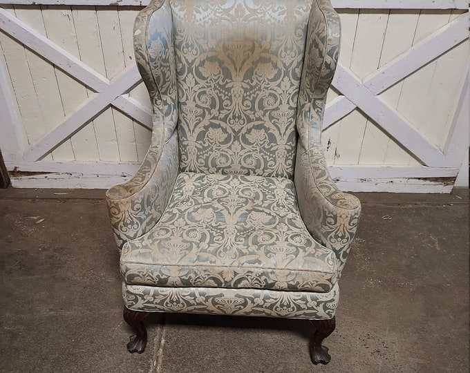 1880's Paw Foot Wingback Chair
