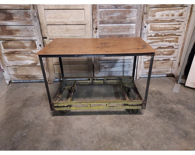 1920,S Steel Work Table On Casters # 186615