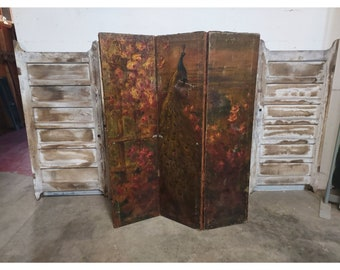 1890'S PAINT DECORATED SCREEN # 186712