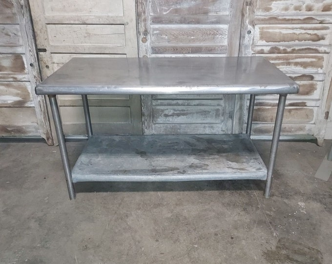 1940,s Two Tier Stainless Worktable # 186343