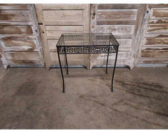 1940'S Iron And Glass Table # 186702