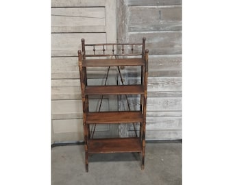 1920'S Root Bamboo Four Tier Shelving # 185960