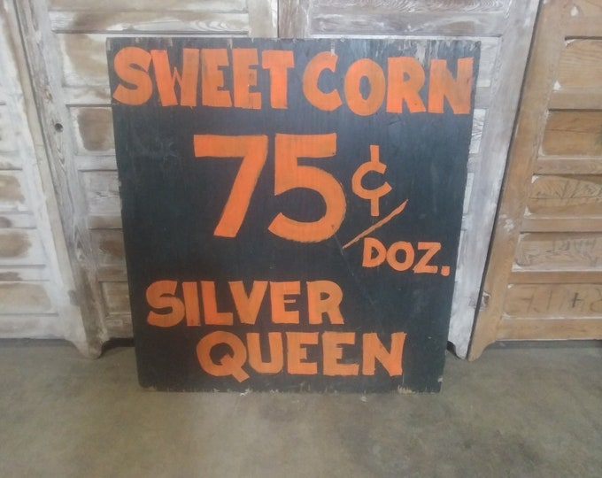 Vintage Corn & Apple Sign # 183656