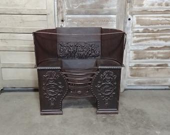 1840'S Cast Iron Fireplace Insert # 185510