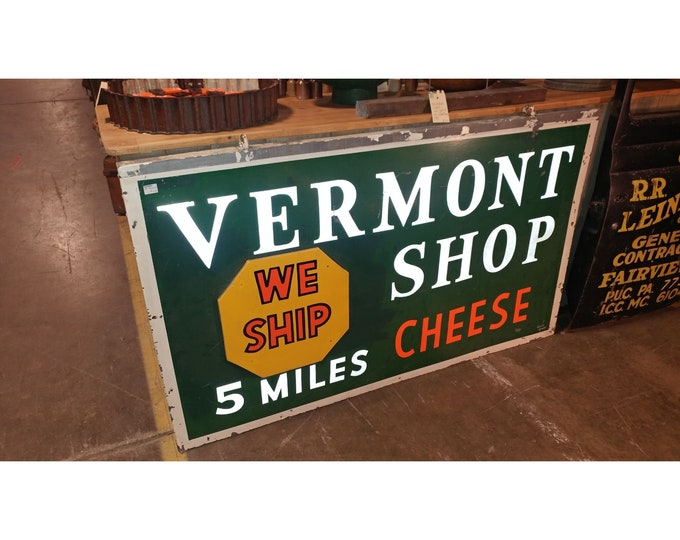 VINTAGE CHEESE SIGN # 129149