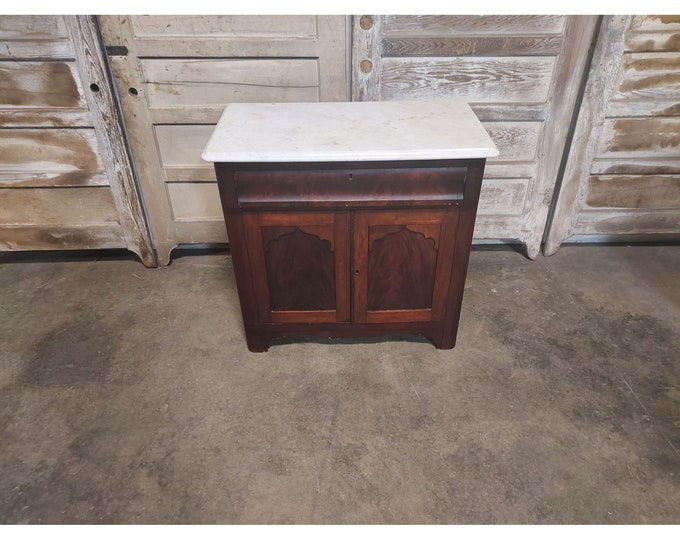 1860'S Mahogany Chest With Marble Top # 186536