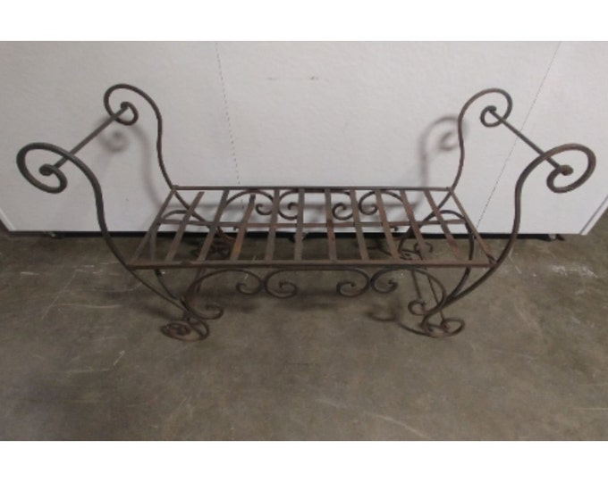 1940'S Cast Iron Curved Bench # 182820