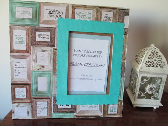 5x7 Word/Home Themed Hand Decorated Picture Frame