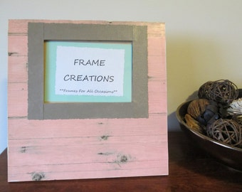 5x7 Wood Themed - Hand Decorated Picture Frame