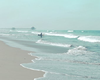 Surfer Photograph, Beach Print, Surf, California Surfing Wall Art, Waves, Ocean Surf, Huntington Beach Surfing Photography