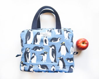 da397698a0f6 Insulated Lunch Bag (Box Style) - Penguins