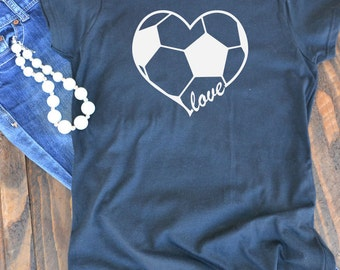 Soccer love - woman's graphic t-shirt - Soccer mom - mom t-shirt