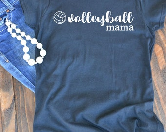 Volleyball mama graphic t-shirt - woman's graphic t-shirt - volleyball mom - mom t-shirt