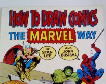 Books- How to Draw Comics The Marvel Way, Paperback