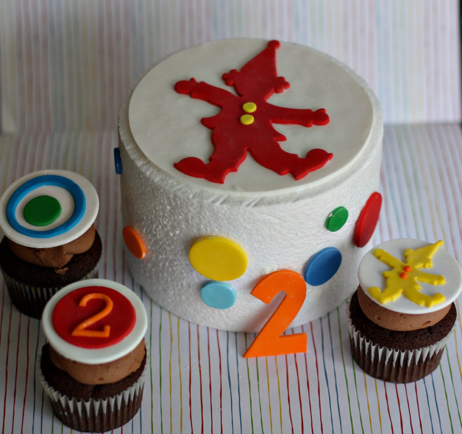 Circus Fondant Cake Toppers
