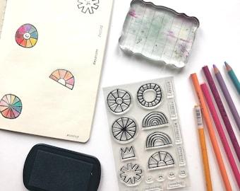 Sunshine Day: An Acrylic Stamp Set by Katie Licht