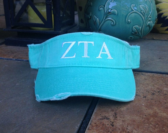 Zeta Tau Alpha Distressed Visor