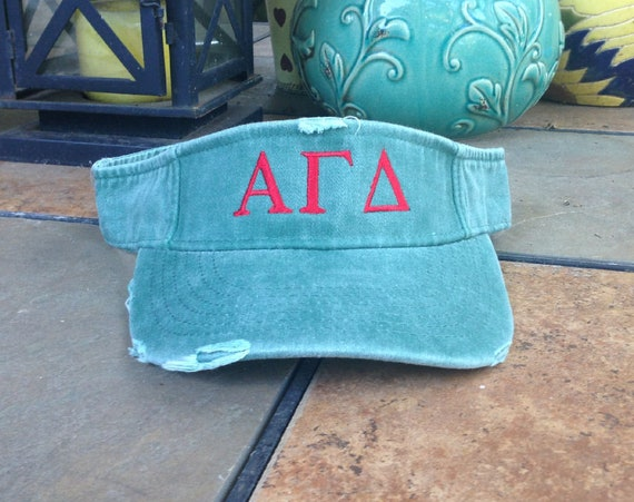 Alpha Gamma Delta Distressed Visor