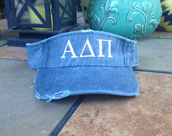 Alpha Delta Pi Distressed Visor