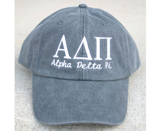 Alpha Delta Pi with script baseball cap