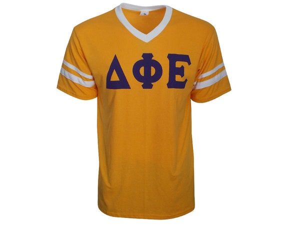 Delta Phi Epsilon - Stripe Sleeve T-shirt Jersey