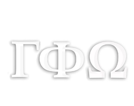 Gamma Phi Omega Window Decal